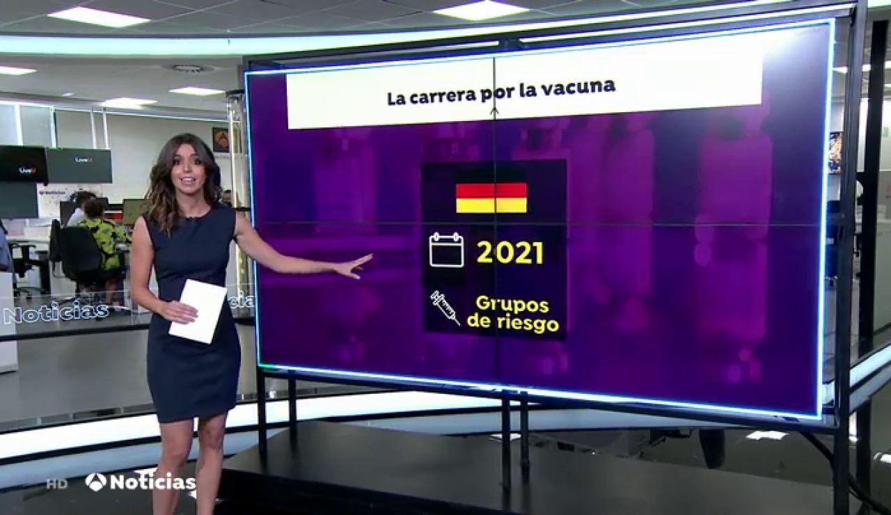 Alemania empezaría a suministrar la vacuna contra el coronavirus a los grupos de riesgo a principios de 2021