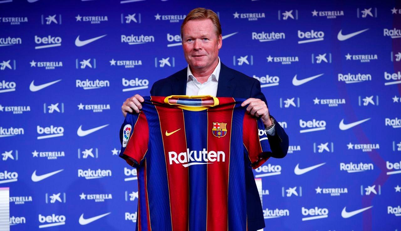 Ronald Koeman, en su presentación con el Barcelona