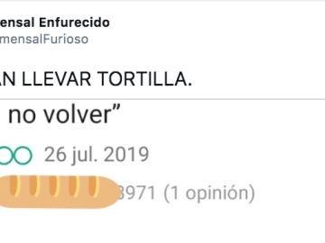 Twitter de Comensal Enfurecido
