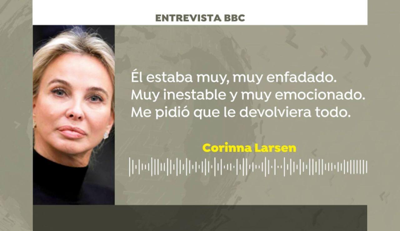 """Corinna Larsen, la examiga del rey Juan Carlos a la BBC: """"Él estaba muy muy enfadado. Me pidió que le devolviera todo"""""""