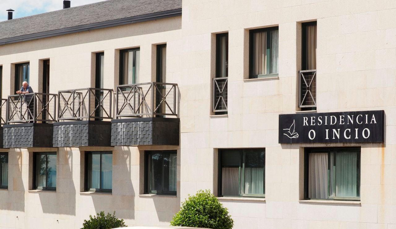 Vista exterior de la residencia O Incio, en Lugo