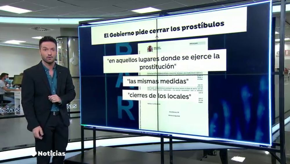 REEMPLAZO El Gobierno pide a las comunidades autónomas que cierren todos los prostíbulos por el coronavirus
