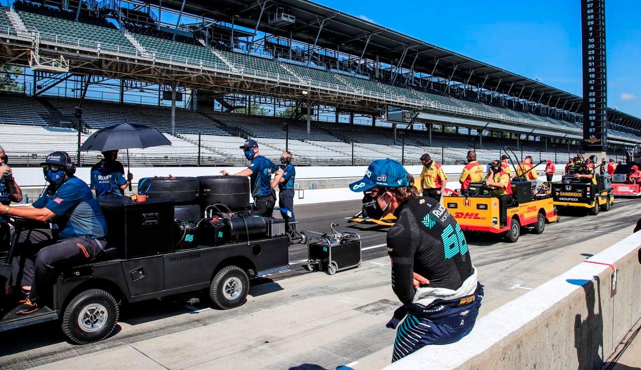 Fernando Alonso, en el Indianapolis Motor Speedway