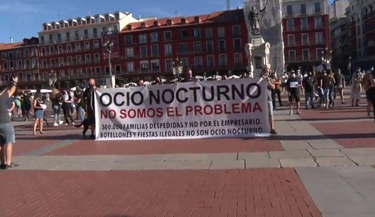 Los hosteleros de Valladolid protestan contra las nuevas medidas para evitar el contagio de coronavirus