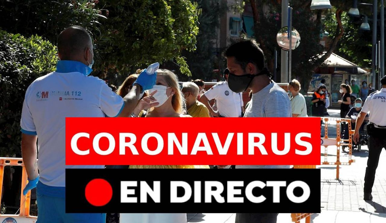 Coronavirus en directo hoy: Última hora de los rebrotes, contagios y últimas noticias del domingo 23 de agosto, en directo