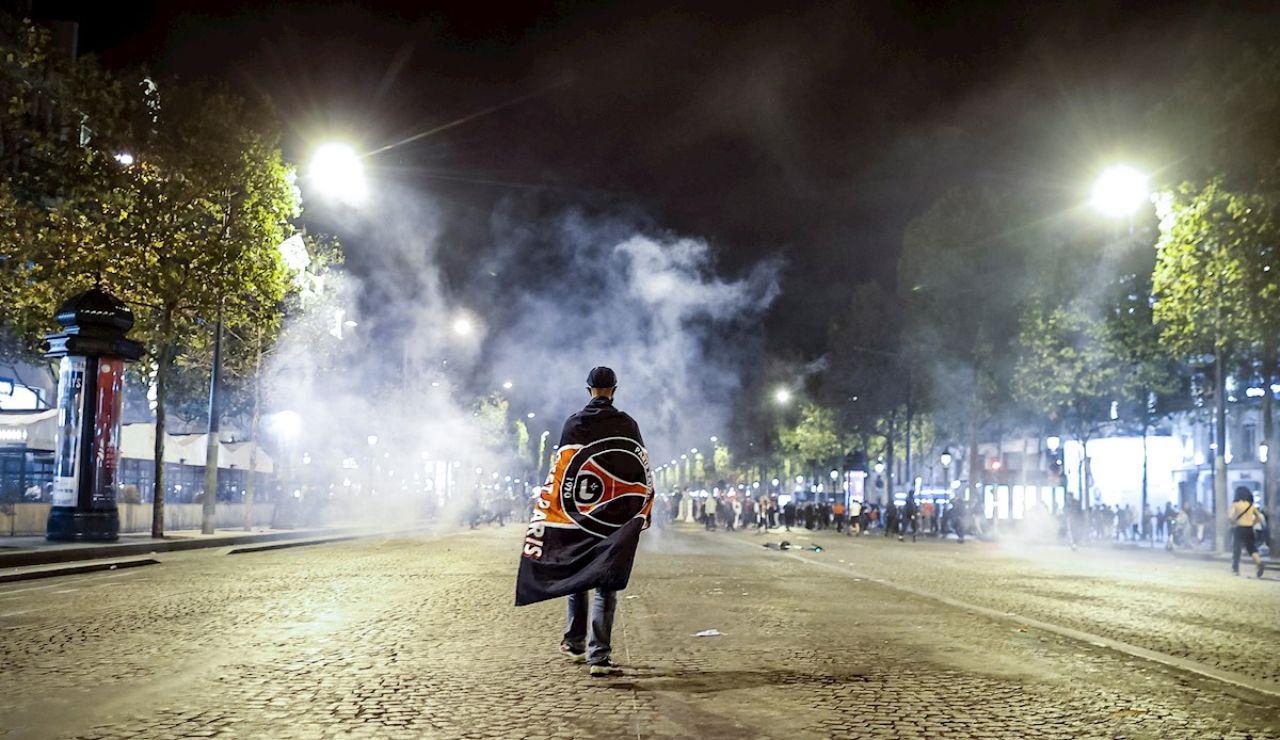 Disturbios en París tras el partido del PSG