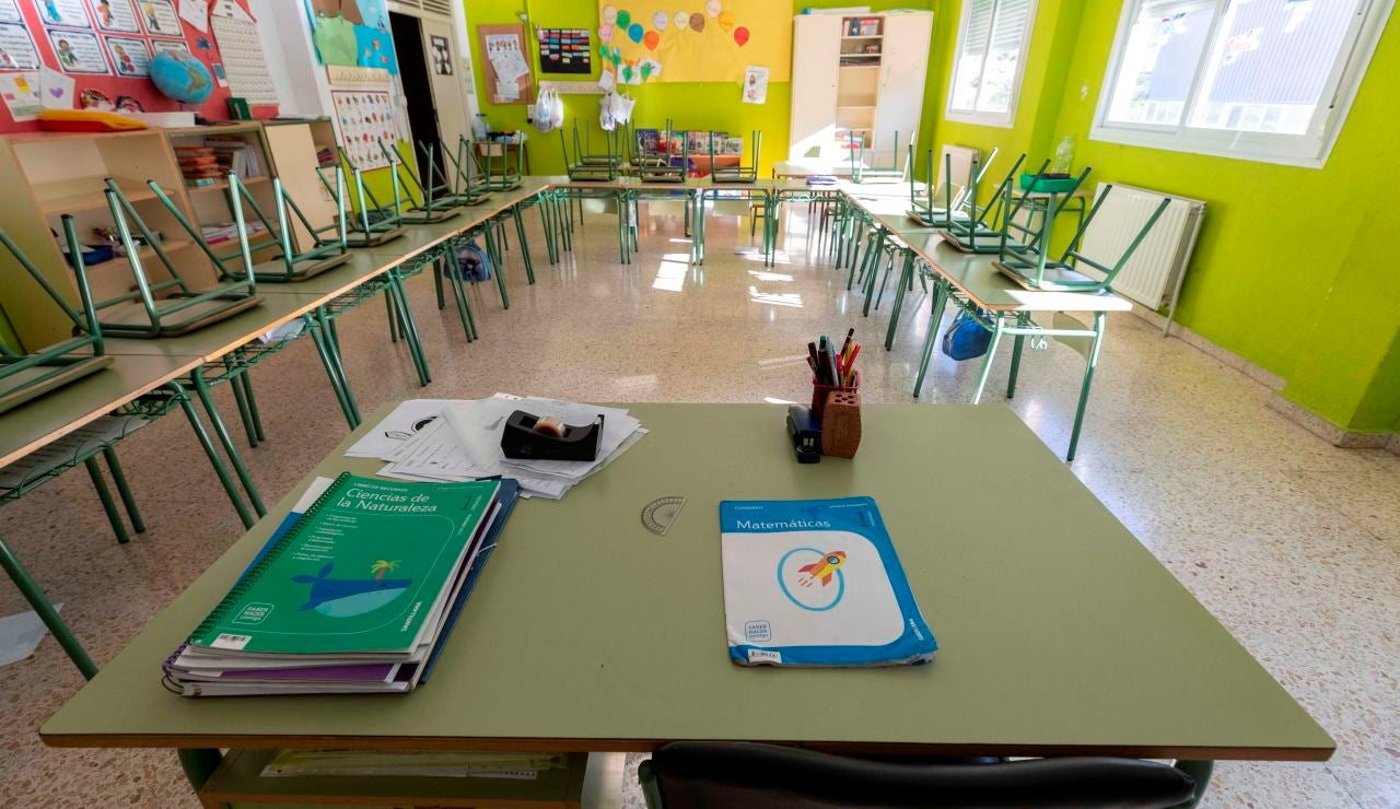 Un aula vacía de un colegio