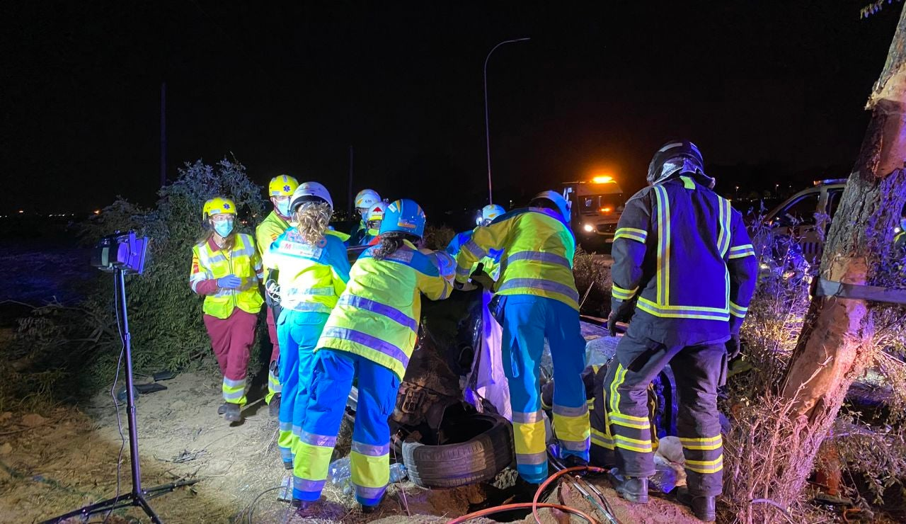 Accidente de coche en Móstoles