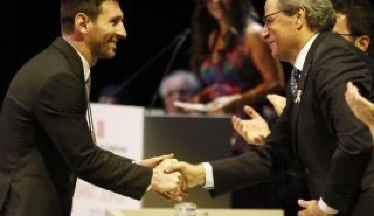 Joaquim Torra con Leo Messi