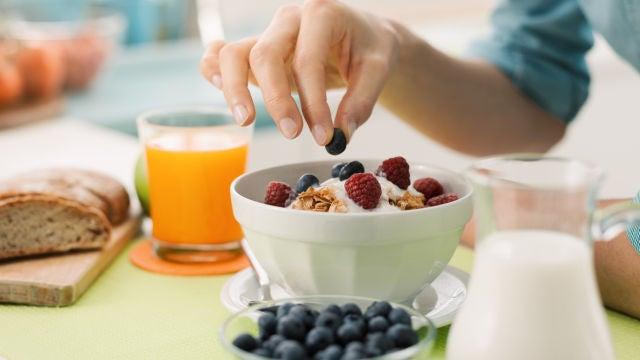 Arándanos en el desayuno