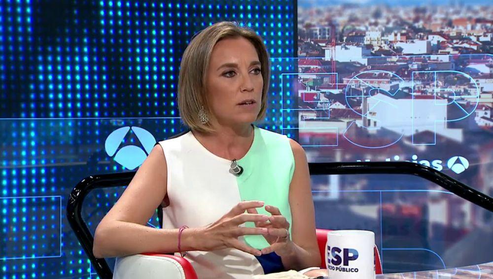 Cuca Gamarra (PP) critica que Pedro Sánchez cobre la nómina pero haya decidido no ejercer