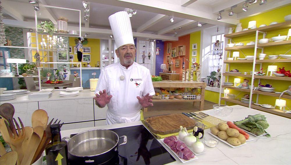 El truco de Karlos Arguiñano para cocinar carne de ternera en poco tiempo
