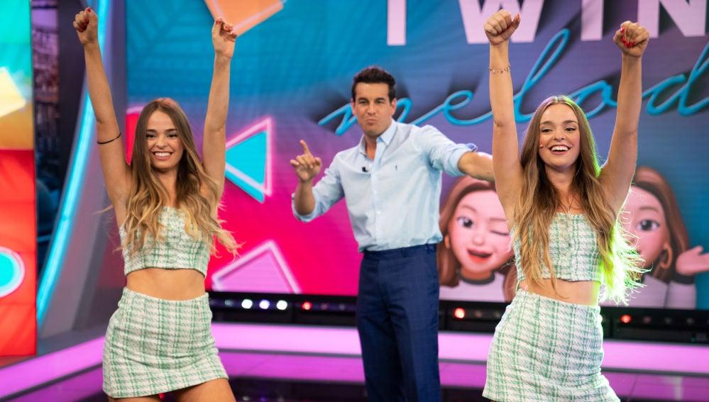 Las Twin Melody enfrentan a Mario Casas y Pablo Motos a los retos más populares de Tik Tok