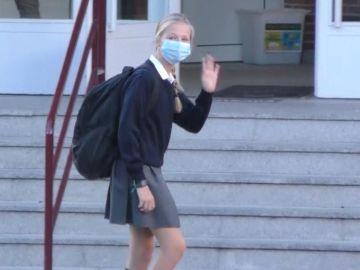 La princesa Leonor vuelve al colegio acompañada por el rey Felipe VI y con fuertes medidas de seguridad por el coronavirus