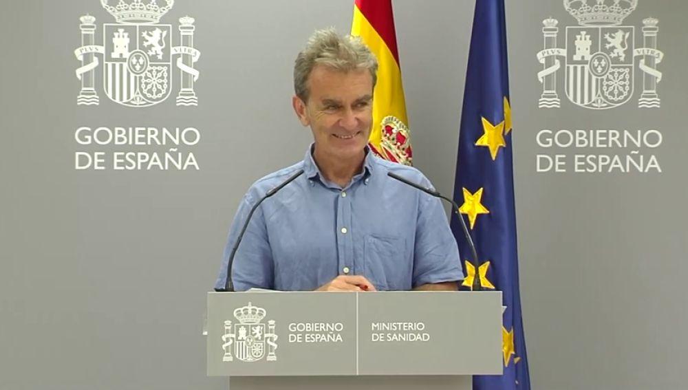 """Fernando Simón, esperando a la primera pregunta de los periodistas: """"Voy a meterme el dedo en la nariz"""""""