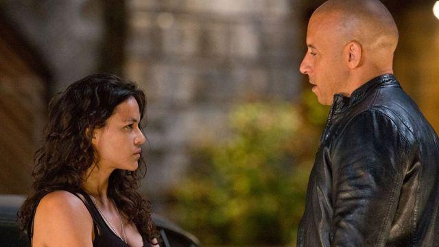 Michelle Rodríguez y Vin Diesel en 'Fast and Furious'