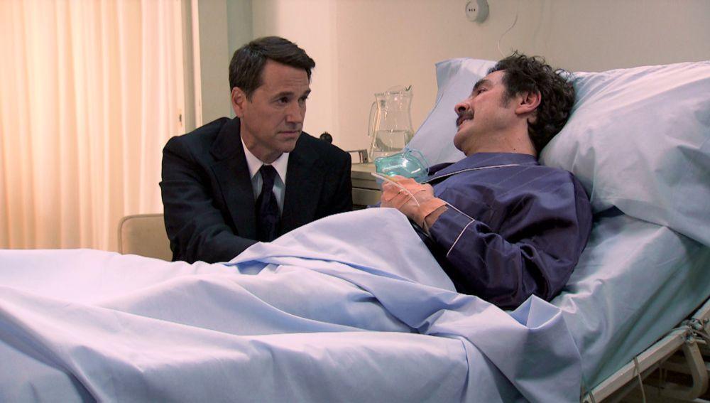 La visita de Abel en el hospital ha reconfortado a Ordóñez, y le ha pedido sinceridad.