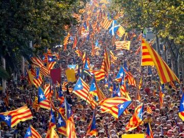 Diada 2020: Horario y recorrido de las manifestaciones hoy en Cataluña