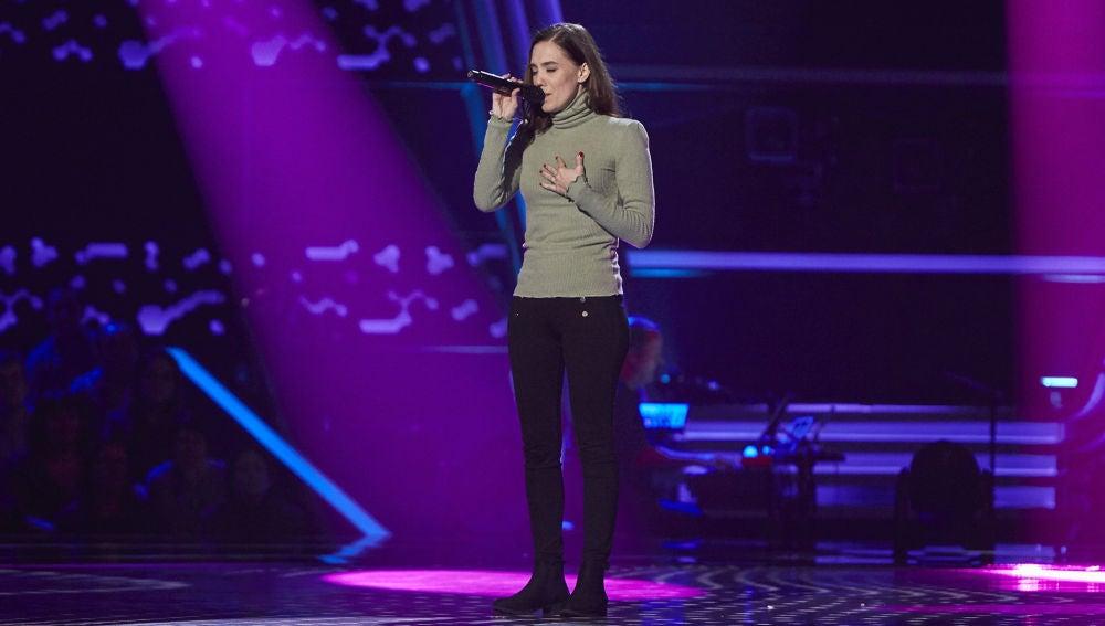 Johanna Polvillo canta 'Open arms' en las Audiciones a Ciegas de 'La Voz'