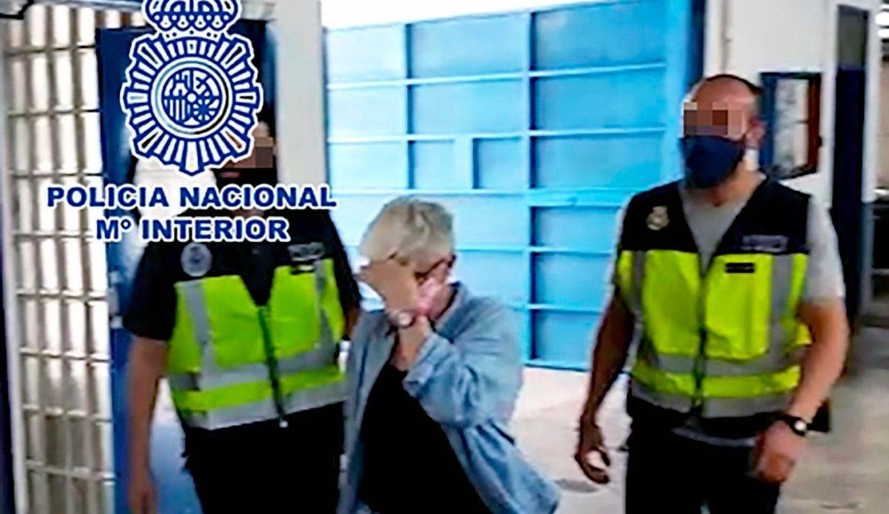 La mujer italiana detenida