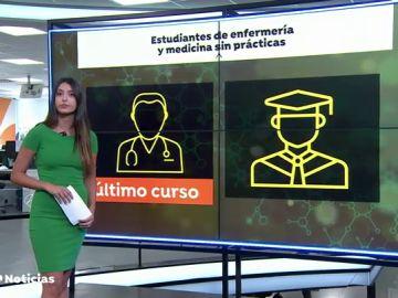 Preocupación entre los estudiantes de medicina y enfermería al quedarse sin prácticas por la crisis del coronavirus