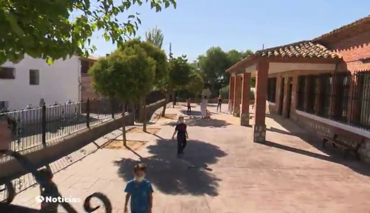 El colegio de Cabañas de Yepes (Toledo) reabre gracias al coronavirus