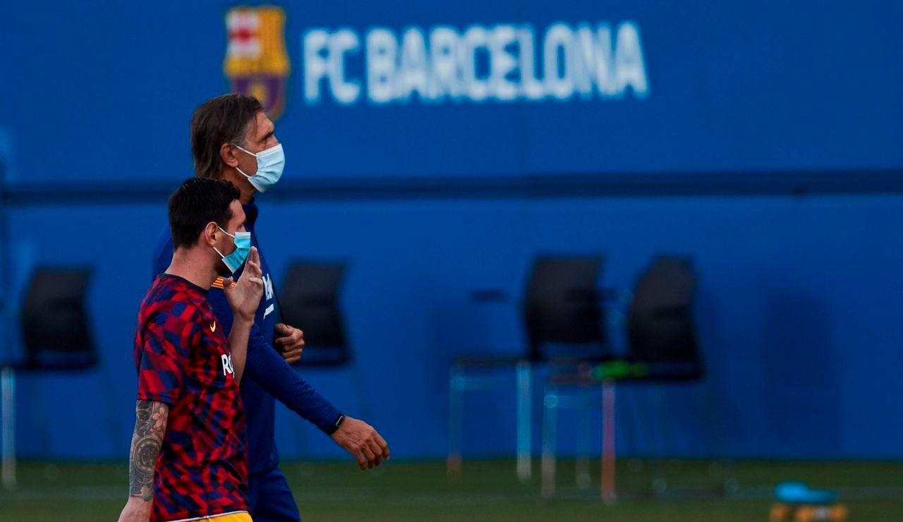 Leo Messi, titular en el primer partido del Barcelona de Ronald Koeman; Luis Suárez, ni convocado