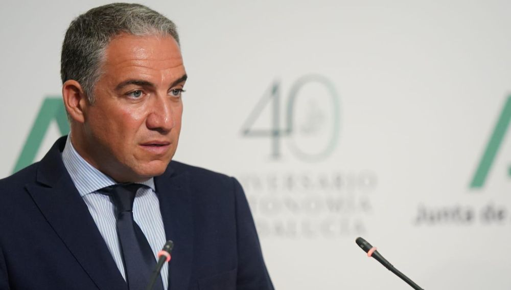 Elías Bendodo, consejero de Presidencia, Administración Pública e Interior y portavoz del Gobierno de Andalucía