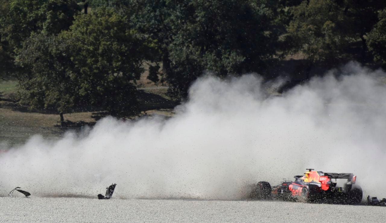 Accidente en el GP de la Toscana