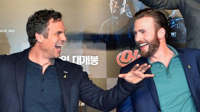 Mark Ruffalo Chris Evans, Hulk y Capitán América en 'Los Vengadores'