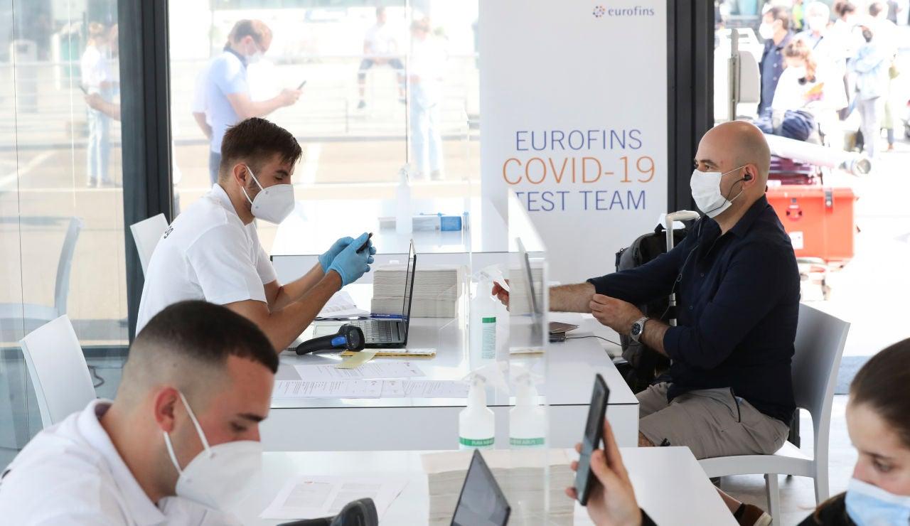 El aeropuerto de Bruselas donde hay un laboratorio de pruebas PCR