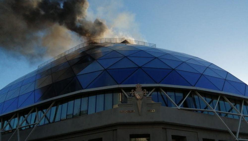La sede del Celta de Vigo en llamas