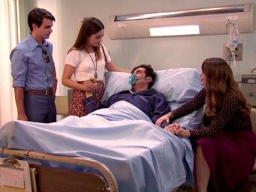 La emotiva despedida de Ordóñez y sus hijos