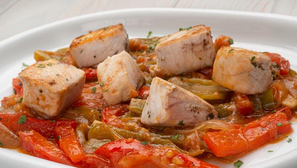 La receta de Tacos con bonito y piperrada de Karlos Arguiñano