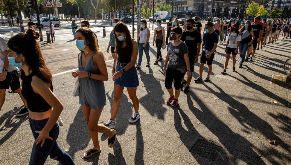Profesores de País Vasco protestan ante la inseguridad de la vuelta al cole por el coronavirus