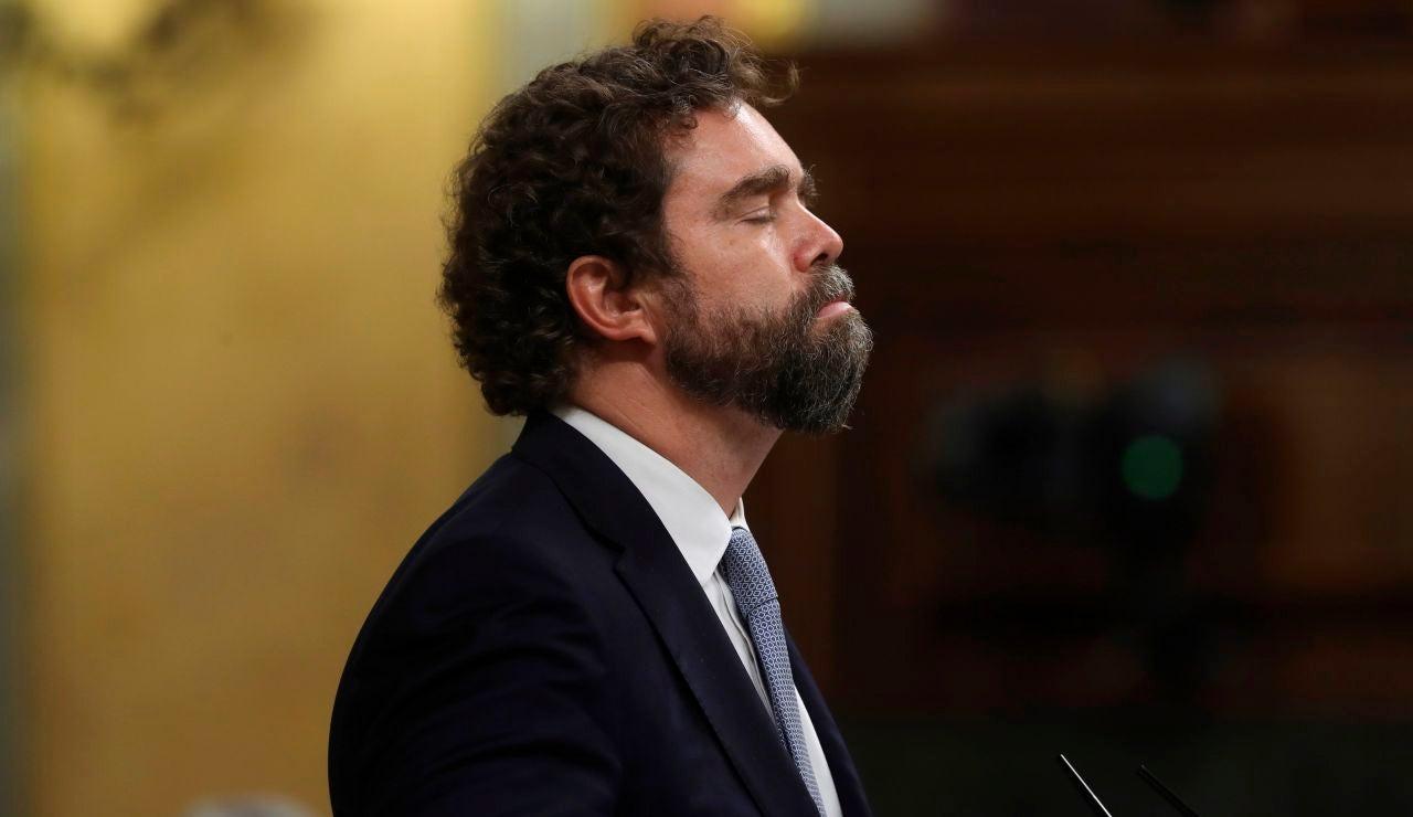 El portavoz de VOX en el Congreso de los Diputados, Iván Espinosa de los Monteros, durante su intervención