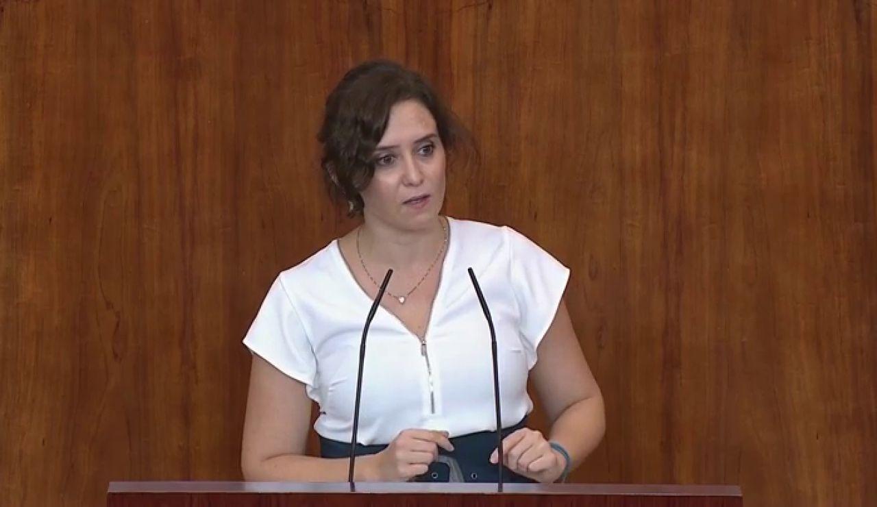 """Díaz Ayuso reacciona a la propuesta de moción de censura y críticas de la oposición: """"¿O es que el virus lo fabriqué yo?"""