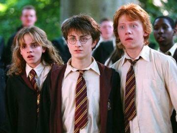 Daniel Radcliffe, Emma Watson y Rupert Grint en 'Harry Potter'