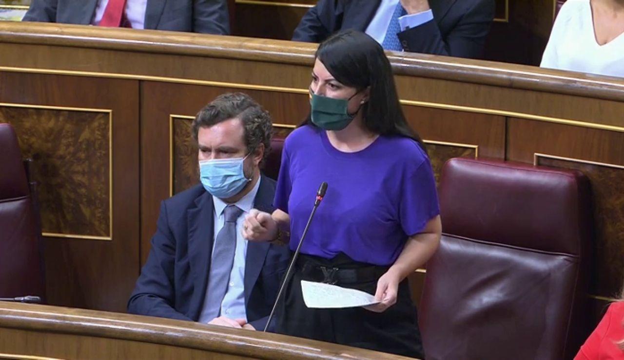 """Rifirrafe entre Pablo Iglesias y Macarena Olona: """"Cuando les llamamos fascistas, nos equivocamos; ustedes son una cosa mucho más cutre"""""""