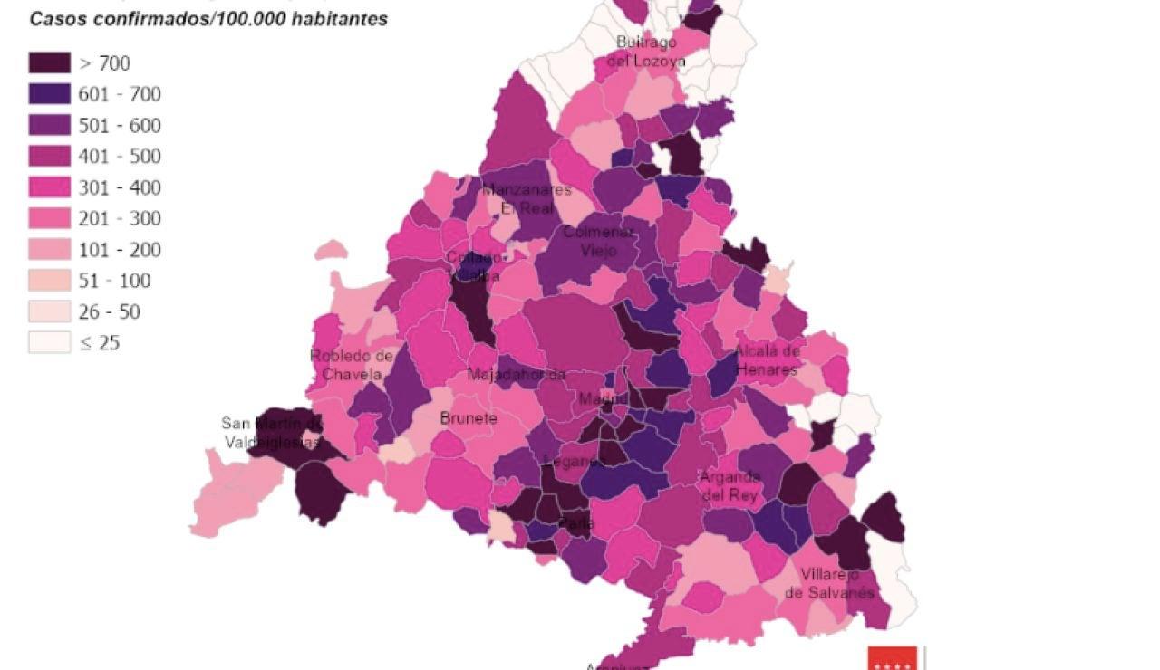 Situación epidemiológica del coronavirus en la Comunidad de Madrid