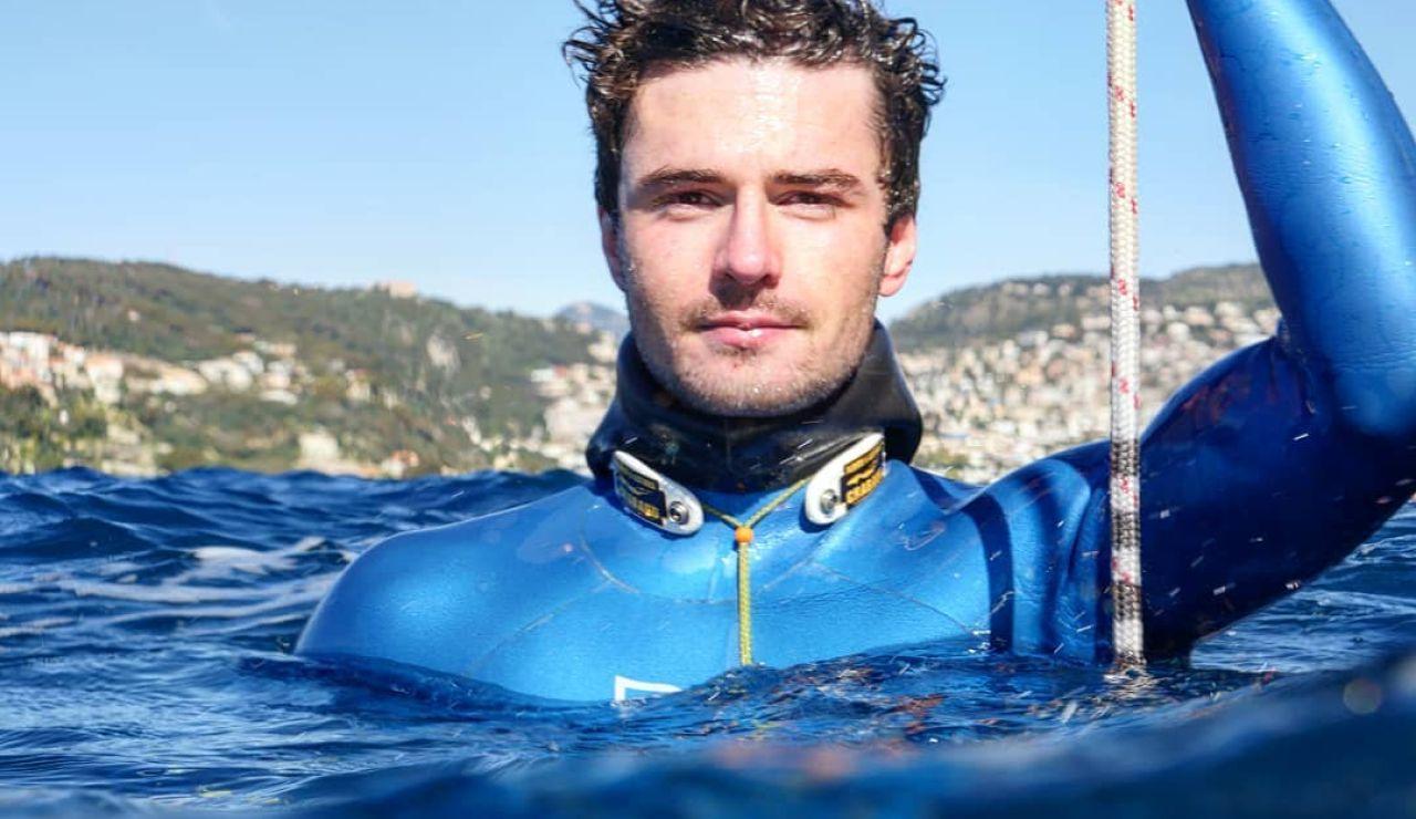 El apneista francés Arnaud Jerald
