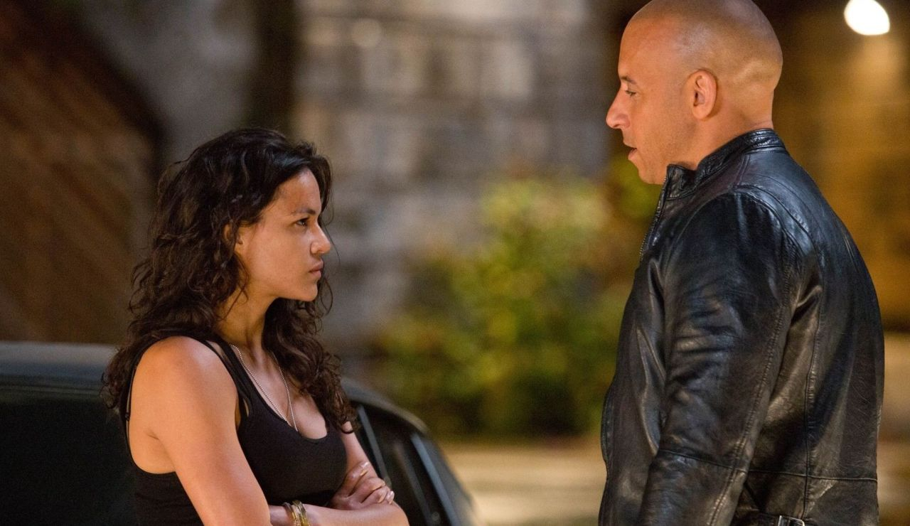 Michelle Rodriguez y Vin Diesel en 'Fast and Furious 6'