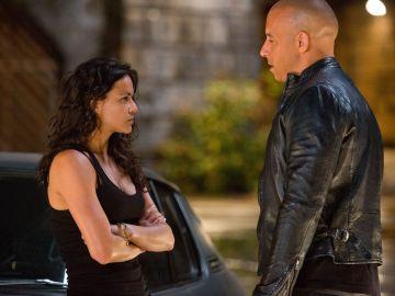 Michelle Rodriguez y Vin Diesel en 'Fast and Furious 6'