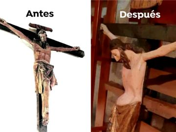 Polémica por la restauración del Cristo Doloroso de Garcibueay