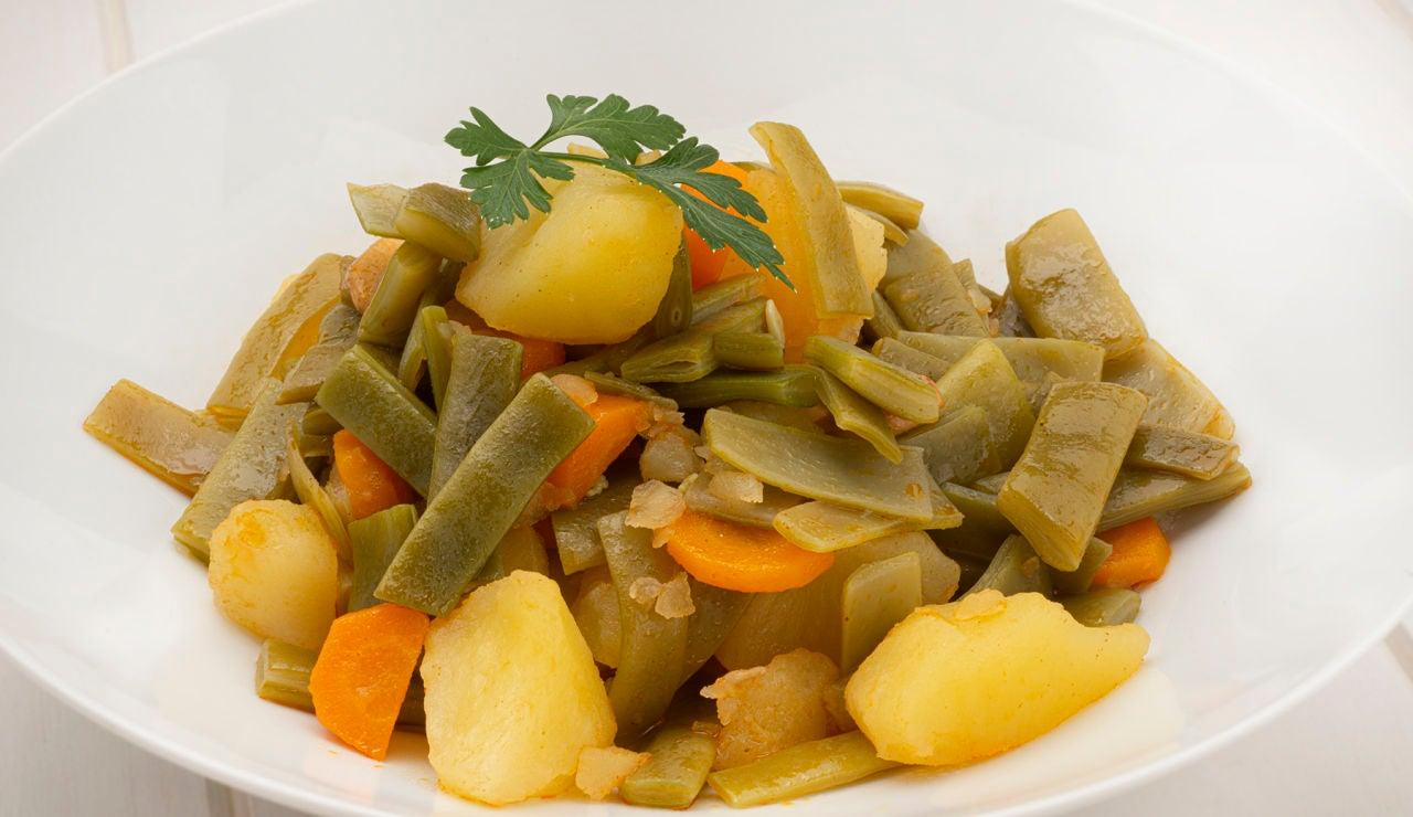 Receta de judías verdes con patatas, de Karlos Arguiñano