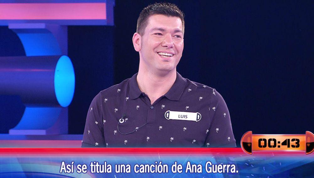 """¡Qué tensión! Luis salva una """"bola de partido"""" con una canción de Ana Guerra en '¡Ahora caigo!'"""