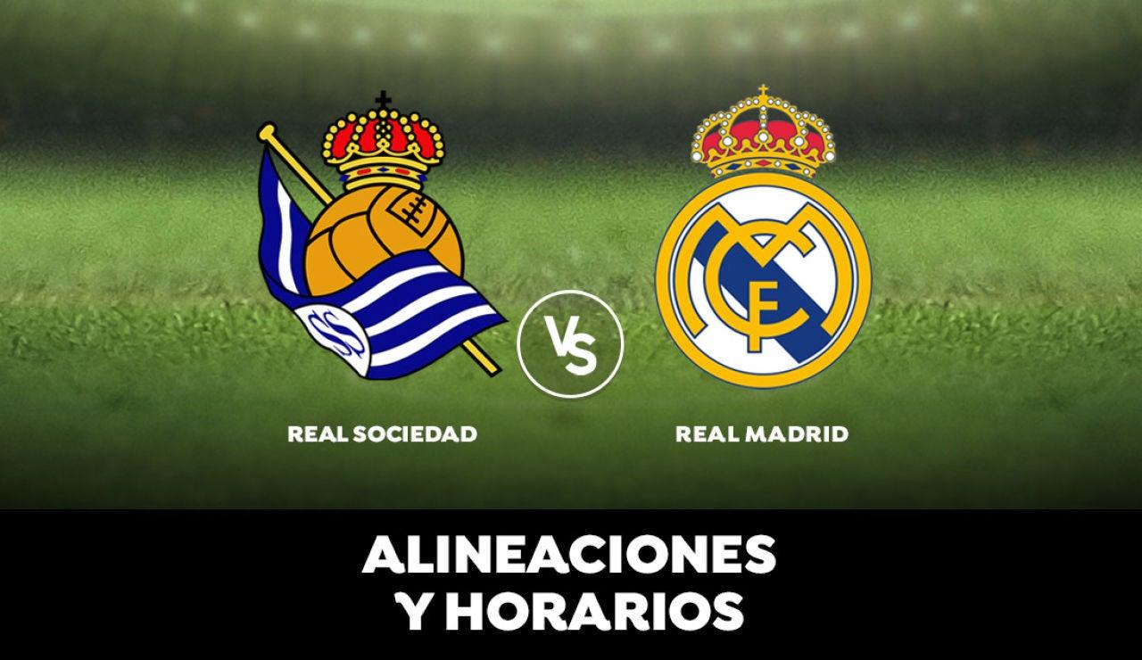 Real Sociedad - Real Madrid: Horario, alineaciones y dónde ver el partido de la Liga Santander en directo