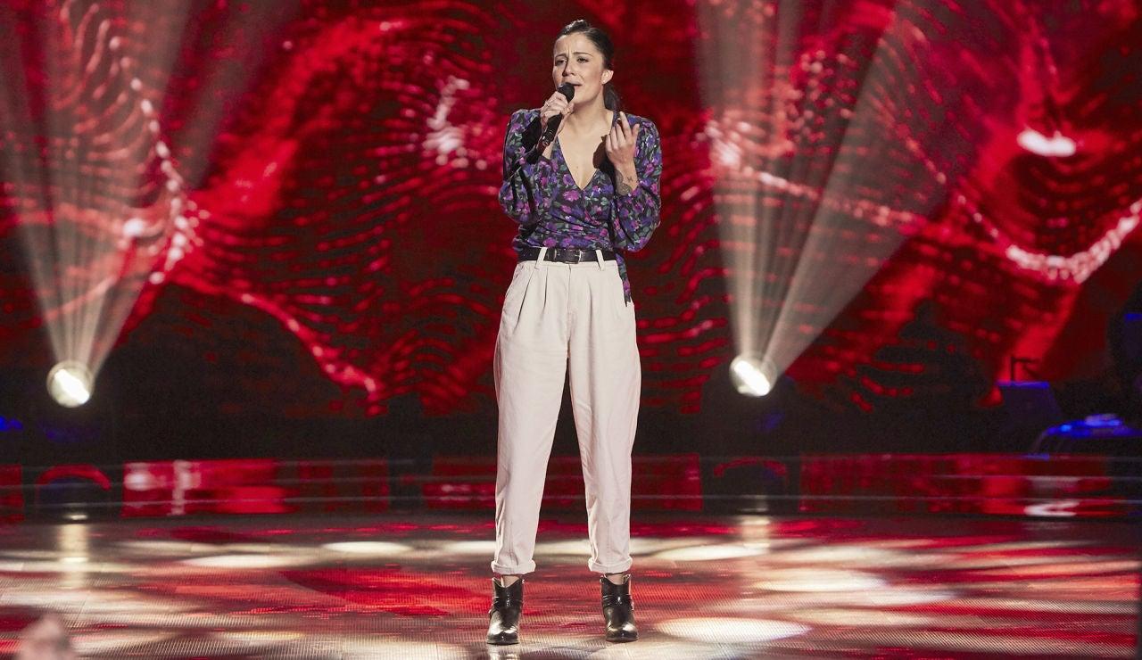 María Cortés en 'La Voz'