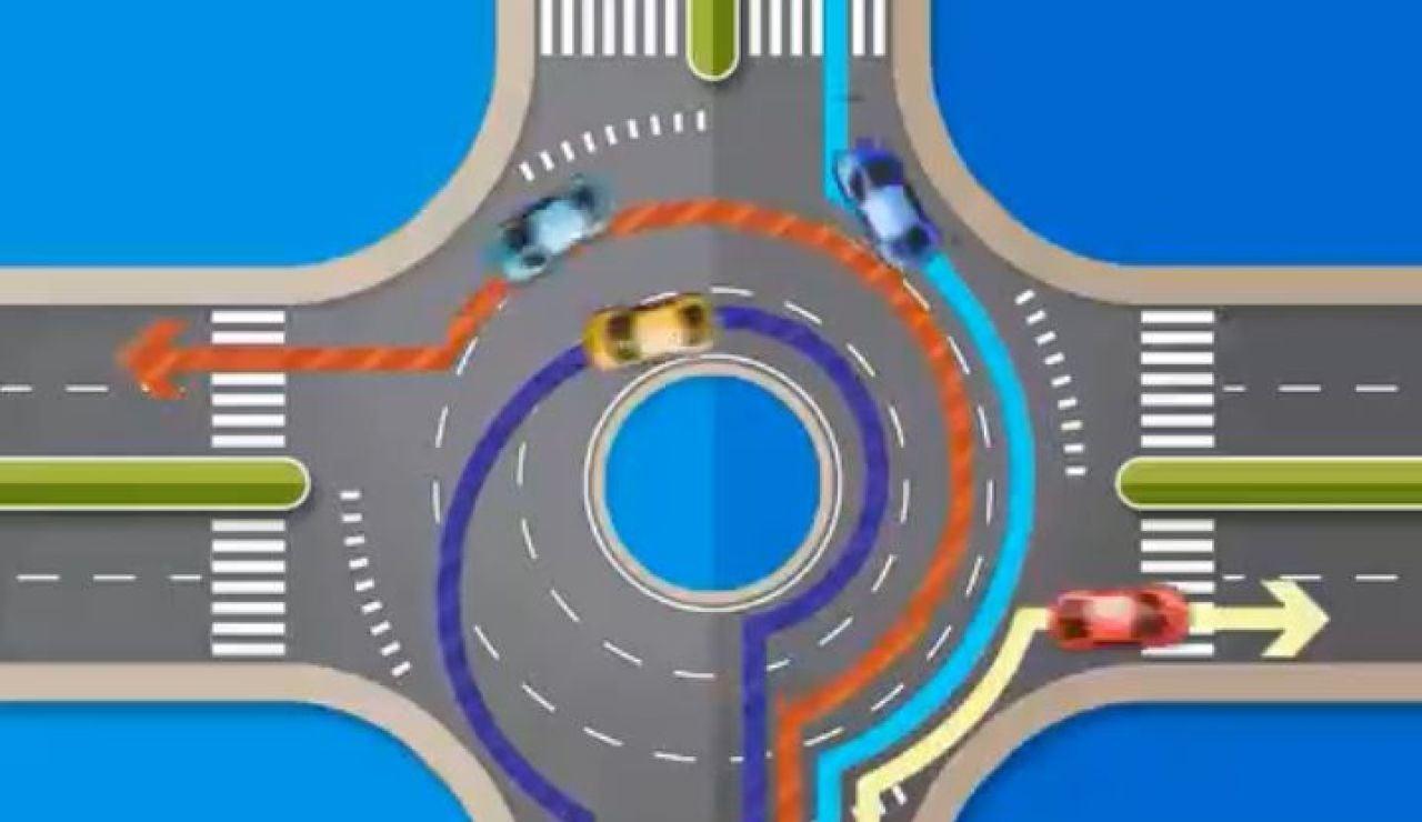 La DGT aclara cómo se debe circular en una rotonda con tres pasos básicos