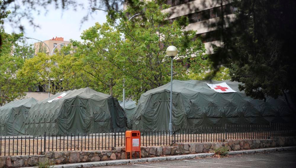 El Hospital Central de la Defensa Gómez Ulla ha instalado de nuevo un hospital de campaña